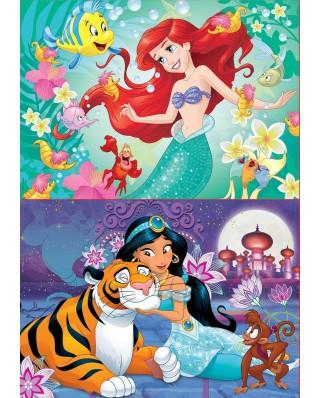 Puzzle Educa - Ariel + Jasmin, 2x48 piese (18213)