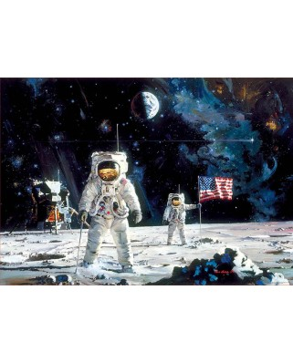 Puzzle Educa - Robert McCall: First Men On The Moon, 1.000 piese, include lipici (18459)