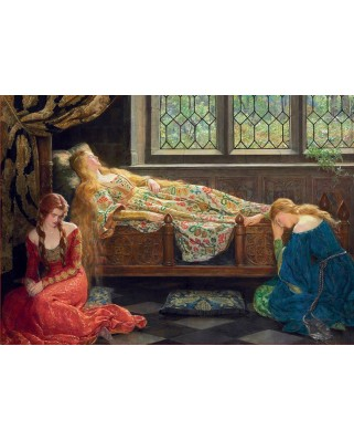 Puzzle Educa - John Collier: Sleeping Beauty, 1500 piese, include lipici (18464)