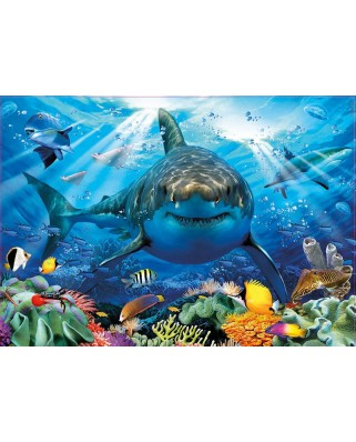 Puzzle Educa - Great White Shark, 500 piese, include lipici (18478)