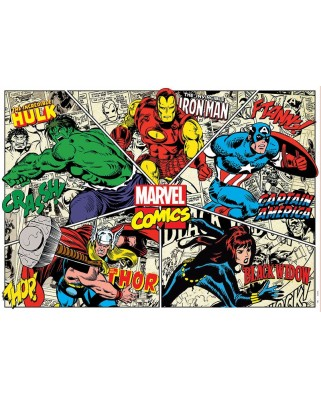 Puzzle Educa - Marvel Comics, 1.000 piese, include lipici (18498)