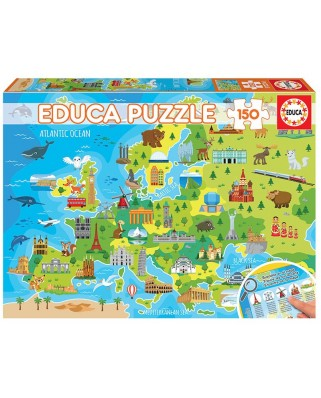 Puzzle Educa - Europe Map, 150 piese (18607)