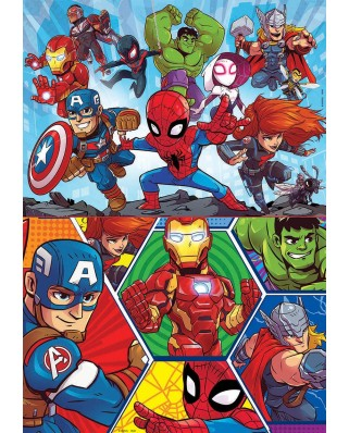 Puzzle Educa - Marvel Super Heroe Adventures, 2x20 piese (18648)