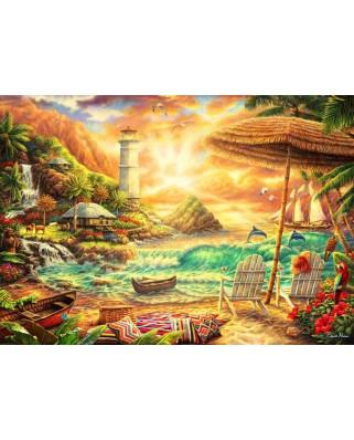 Puzzle 1000 piese - Chuck Pinson: Love the Beach (Bluebird-Puzzle-70417)