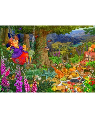 Puzzle Bluebird - Francois Ruyer: The Witch Picnic, 1500 piese (70418)