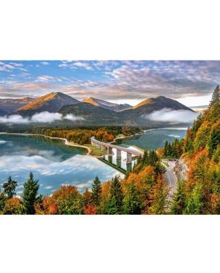 Puzzle Castorland - Sylvenstein Lake, Allemagne, 500 piese (53353)