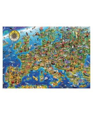 Puzzle Educa - Crazy Europe map, 500 piese (17962)
