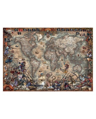 Puzzle Educa - Antique World Map, 2000 piese (18008)