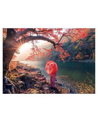 Puzzle Educa - Sunrise in Katsura River, Japan, 1.000 piese (18455)
