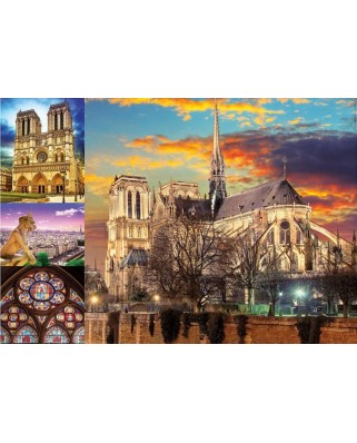 Puzzle Educa - Collage - Notre Dame de Paris, 1.000 piese (18456)