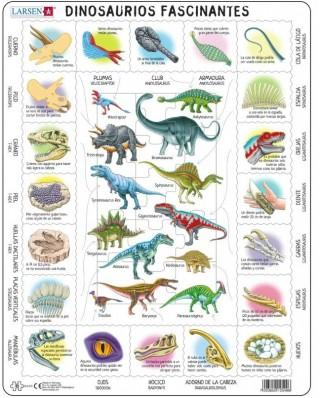 Puzzle Larsen - Dinosaurs (in Spanish), 35 piese (HL9-ES)