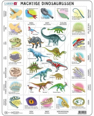 Puzzle Larsen - Dinosaurs (in Dutch), 35 piese (HL9-NL)
