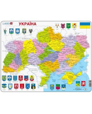 Puzzle Larsen - Ukraine Political Map, 82 piese (K57-UA)