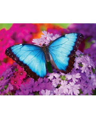 Puzzle Master Pieces - Iridescence - Butterfly, 550 piese (Master-Pieces-31622)