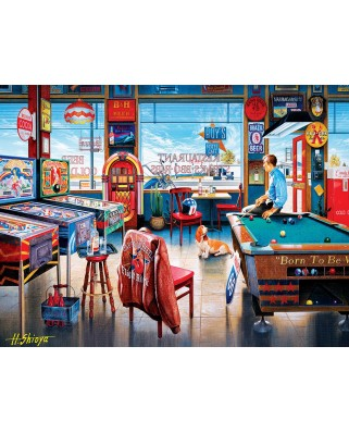 Puzzle Master Pieces - Pockets Pool & Pub, 550 piese (Master-Pieces-31927)