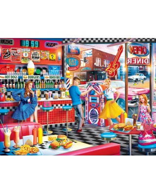 Puzzle Master Pieces - Good Times Diner, 550 piese (Master-Pieces-31930)