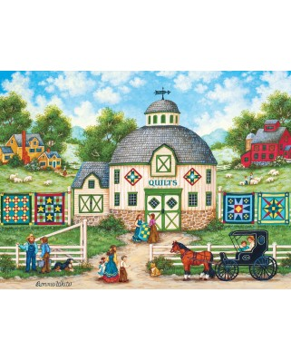 Puzzle Master Pieces - The Quilt Barn, 550 piese (Master-Pieces-31979)