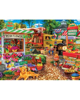 Puzzle Master Pieces - Sale on the square, 750 piese (Master-Pieces-31996)