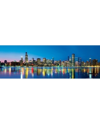 Puzzle panoramic Master Pieces - Chicago, 1000 piese (Master-Pieces-71594)