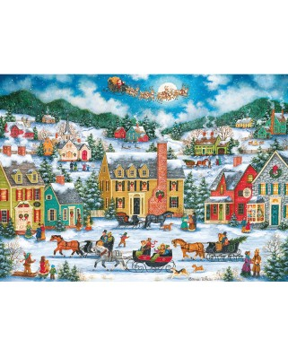 Puzzle Master Pieces - Christmas Eve Fly By, 1000 piese (Master-Pieces-71773)