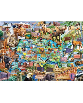 Puzzle Master Pieces - National Parks, 1000 piese (Master-Pieces-71794)
