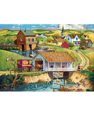 Puzzle Master Pieces - Last Swim of Summer, 1000 piese (Master-Pieces-71936)