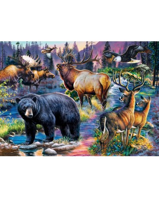 Puzzle Master Pieces - Wild Living, 1000 piese (Master-Pieces-71940)