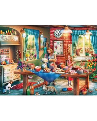 Puzzle Master Pieces - Baking Bread, 1000 piese (Master-Pieces-71943)