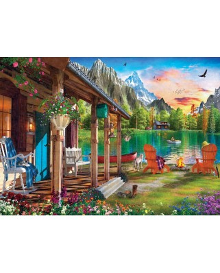 Puzzle Master Pieces - Evening on the Lake, 1000 piese (Master-Pieces-71961)