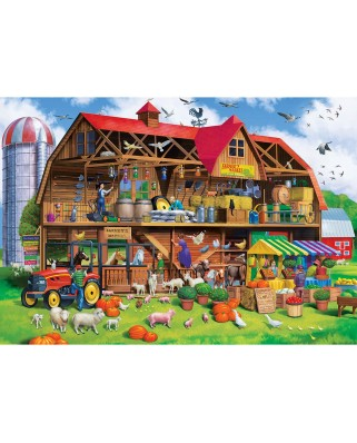 Puzzle Master Pieces - Family Barn, 1000 piese (Master-Pieces-71966)