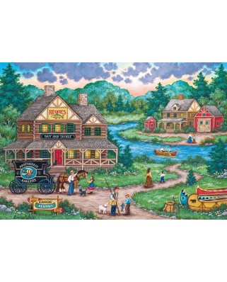 Puzzle Master Pieces - Adirondack Anglers, 2000 piese (Master-Pieces-71968)