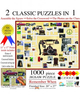 Puzzle SunsOut - Irv Brechner: Puzzle Combo: Remember When, 1000 piese (Sunsout-10164)