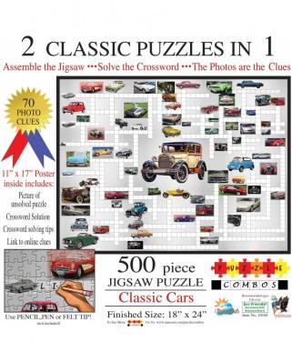 Puzzle SunsOut - Irv Brechner: Puzzle Combo: Classic Cars, 500 piese (Sunsout-10166)