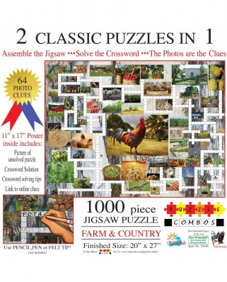 Puzzle SunsOut - Irv Brechner: Puzzle Combo: Farm & Country, 1000 piese (Sunsout-10168)