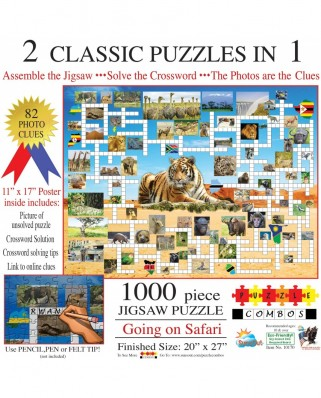 Puzzle SunsOut - Irv Brechner: Puzzle Combo: Going on Safari, 1000 piese (Sunsout-10170)