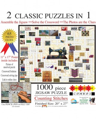 Puzzle SunsOut - Irv Brechner: Puzzle Combo: Counting Stitches, 1000 piese (Sunsout-10176)