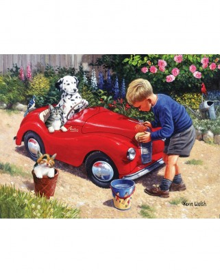 Puzzle SunsOut - Kevin Walsh: Washing the Car, 1000 piese (Sunsout-13717)