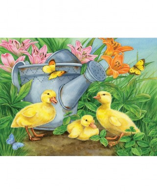 Puzzle SunsOut - Jane Maday: Ducklings and Butterflies, 300 piese (Sunsout-16078)