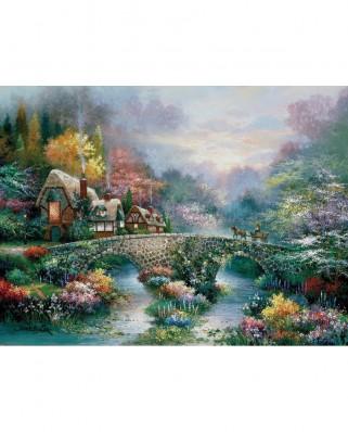 Puzzle SunsOut - James Lee: Peaceful Cottage, 1000 piese (Sunsout-18030)