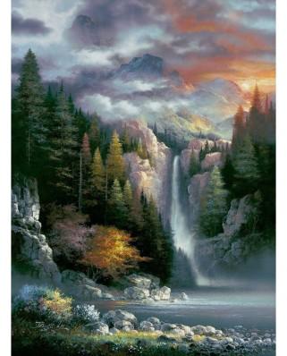Puzzle SunsOut - James Lee: Misty Falls, 1000 piese (Sunsout-18091)