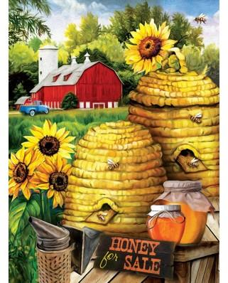 Puzzle din lemn SunsOut - Tom Wood: Bee Farm, 1000 piese (Sunsout-29810)