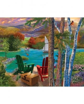Puzzle SunsOut - Lakeside View, 1000 piese (Sunsout-31514)