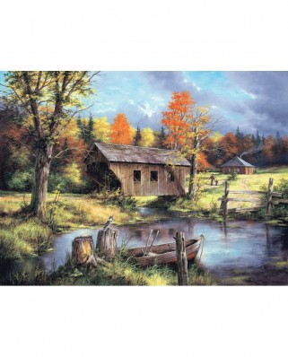 Puzzle SunsOut - Rudi Reichardt: Home from the Field, 500 piese (Sunsout-45308)