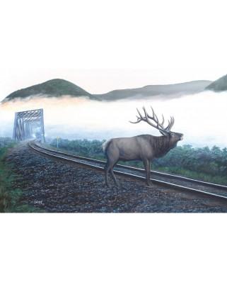 Puzzle SunsOut - Dan Christ: Elk Tracks, 550 piese (Sunsout-48856)