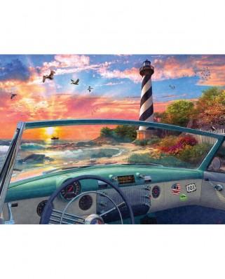 Puzzle SunsOut - Dominic Davison: Cape Hatteras Drive, 500 piese (Sunsout-50080)