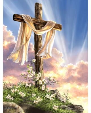 Puzzle SunsOut - Dona Gelsinger: He is Risen, 500 piese (Sunsout-57111)