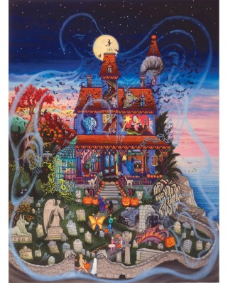 Puzzle SunsOut - Kathy Jakobsen: The Ghost and the Haunted House, 1000 piese (Sunsout-60877)