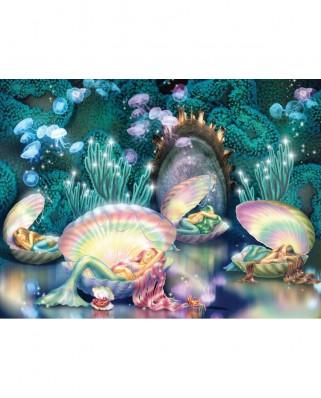 Puzzle SunsOut - Zorina Baldescu: Sleeping Mermaids, 1000 piese (Sunsout-75024)