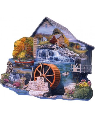 Puzzle contur SunsOut - Russell Cobane: The Old Mill Stream, 1000 piese (Sunsout-95065)