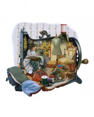 Puzzle contur SunsOut - Russell Cobane: Sewing Memories, 1000 piese (Sunsout-95072)